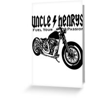 Bobber Motorcycle 'Fuel your Passion' in black Greeting Card