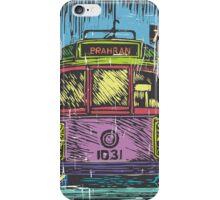 Melbourne Tram linocut print iPhone Case/Skin