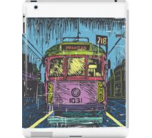 Melbourne Tram linocut print iPad Case/Skin