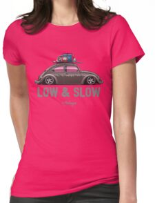 VW Beetle Low & Slow (brown) Womens Fitted T-Shirt