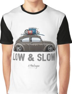 VW Beetle Low & Slow (brown) Graphic T-Shirt