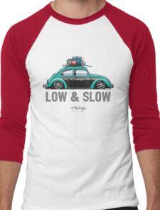 VW Beetle Low & Slow (aquamarine) Men's Baseball ¾ T-Shirt