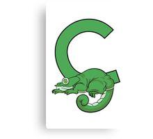 C is for Chameleon Canvas Print