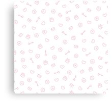 Cute pastel pattern. Seamless pretty pink background.  Canvas Print