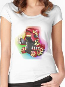 Primal Groudon Women's Fitted Scoop T-Shirt