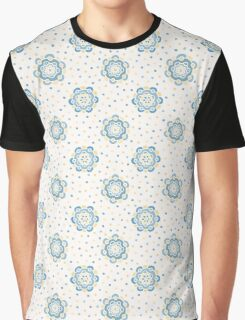 Doodle floral pattern. Seamless boho background. Beautiful pastel wallpaper. Graphic T-Shirt