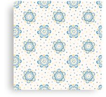 Doodle floral pattern. Seamless boho background. Beautiful pastel wallpaper. Canvas Print
