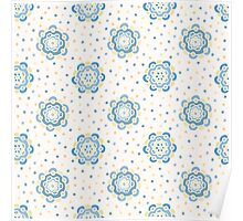 Doodle floral pattern. Seamless boho background. Beautiful pastel wallpaper. Poster