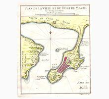 Vintage Map of Macau China (1750) Unisex T-Shirt