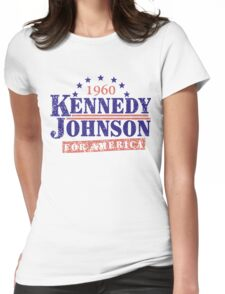 Vintage Kennedy Johnson 1960 Presidential Campaign Womens Fitted T-Shirt