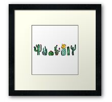 Watercolor Cactuses Framed Print