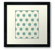 Simple kids flower pattern. Doodle pastel seamless background. Cute wallpaper. Framed Print