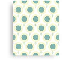 Simple kids flower pattern. Doodle pastel seamless background. Cute wallpaper. Canvas Print