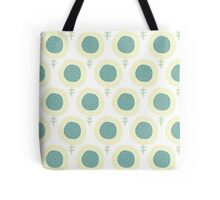 Simple kids flower pattern. Doodle pastel seamless background. Cute wallpaper. Tote Bag