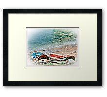 North Beach Fishing Boats Flamborough. Framed Print