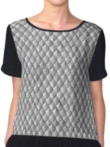 Riveted Scale Armor - Silver Chiffon Top
