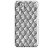 Riveted Scale Armor - Silver iPhone Case/Skin