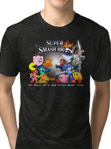 Nintendo Super Smash Bros. NES vs. Wii U/3DS 'Never Old'  Tri-blend T-Shirt