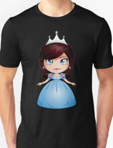 Princess With Black Hair In Blue Dress Unisex T-Shirt