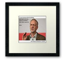 corbyn 99 problems  Framed Print
