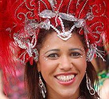 Brazilian dancer's smile by Declan Carr