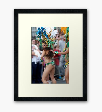 Brazilian's can dance Framed Print