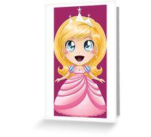 Blond Princess In Pink Dress Greeting Card