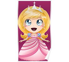 Blond Princess In Pink Dress Poster