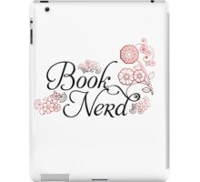 Book Nerd Flower Graphic iPad Case/Skin