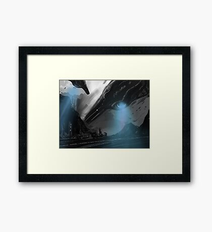 UFO MOFO Framed Print