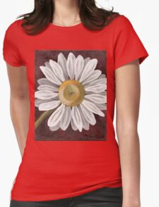 Summer Daisy Painting Womens Fitted T-Shirt