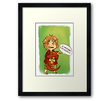Hobbit: I Am Fire! I Am Death! Framed Print