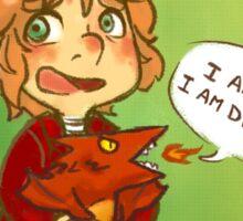 Hobbit: I Am Fire! I Am Death! Sticker