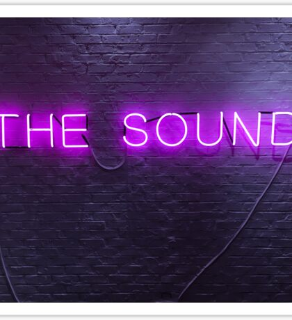 The 1975 The Sound Neon Sign Sticker