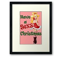 Woman Dressed In Sexy Santa Clothes For Christmas 2 Framed Print