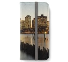 Boston Skyline at Night iPhone Wallet/Case/Skin