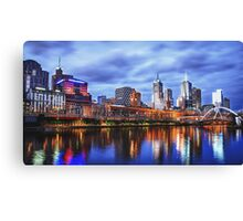 Melbourne From Southbank Canvas Print