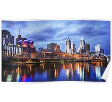 Melbourne From Southbank Poster