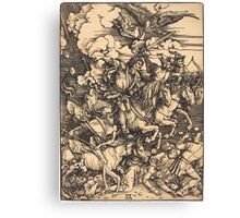 Albrecht Dürer or Durer The Four Horsemen Canvas Print