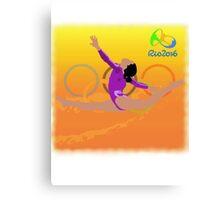 Olympic Gymnast Rio 2016 Canvas Print