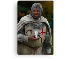 Medieval Knight Canvas Print