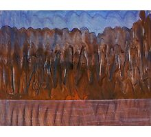 Brown Blue Abstract Organic Landscape Photographic Print