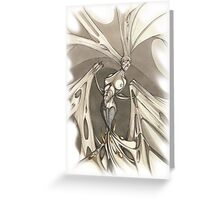Gothic Demon Asphyxiation  Greeting Card