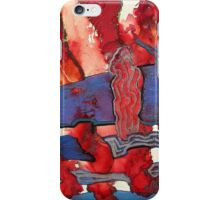 SEA TO SHINING SEA - Red White Blue Painting iPhone Case/Skin