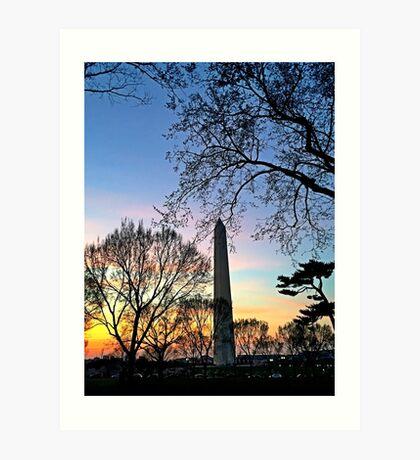 Washington D.C. (Washington Monument) at Sunset Art Print