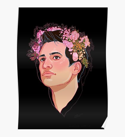 Brendon Flower Crown Poster