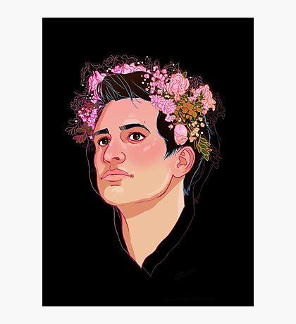 Brendon Flower Crown Photographic Print