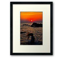 Mermaid Sunset 2 Framed Print