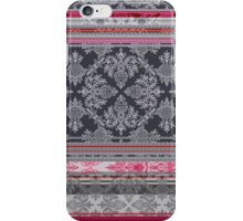 Burgundy, Pink, Navy & Grey Vintage Bohemian Wallpaper iPhone Case/Skin