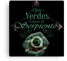Ojos Verdes, Lengua de Serpiente Canvas Print